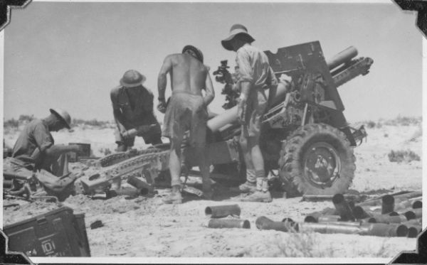 25lb Field Gun, Egypt 1942